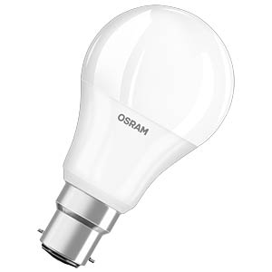 LED-Lampe BASE, B22d, 9,5 W, 806 lm, 2700 K, 109 mm OSRAM 4052899961531