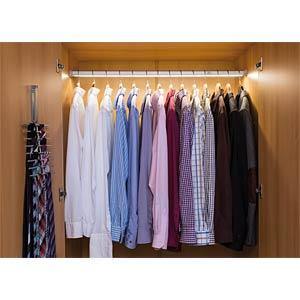 Schrankleuchte DressLight, 11,5 W, 535 lm, 2700 K, Stab, silber PAULMANN 70404
