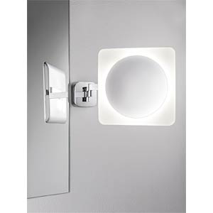 Spiegelleuchte Bela, 5,7 W, 260 lm, 3000 K, eckig, weiß, silber PAULMANN 70468