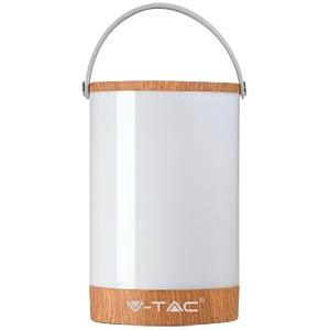 V-TAC Tischlampe mit Powerbank, Touchdimmer, 6 W, Holzoptik V-TAC 7049