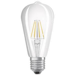 LED-Lampe E27 RETROFIT EDISON, 6 W, 806 lm, 2700 K, Filament OSRAM 4052899972353