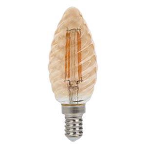 V-Tac Filament-Amber, 4 W, 2200 K, Kerze, geriffelt, E14 V-TAC