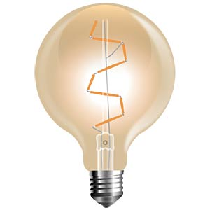 V-TAC Shape Filament-Amber, 4 W, 2200 K, E27 V-TAC SKU 7146