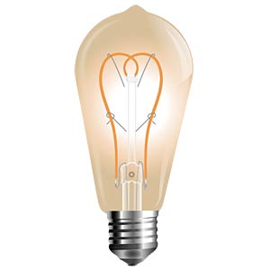 LED-Lampe E27, 5 W, 300 lm, 2200 K, Filament V-TAC 7220