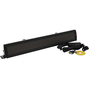 LED-Laufschrift, ESN,  7 x 80 5 mm LED Rot/Grün/Gelb STEINIGKE SHOWTECHNIC GMBH 80500106
