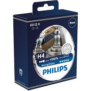 Kfz-Lampe, H4, 2er-Pack, P43t, Racing Vision PHILIPS 12342RVS2