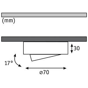 Möbel- ABL- Set, schwenkbar, 3x 20 W, gebürstet/Alu, EEK C PAULMANN 93507