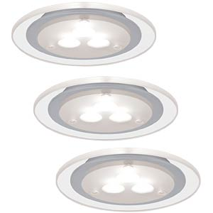 Deco Furn recessed light LED 3x3W, Satin Chrome PAULMANN 93543