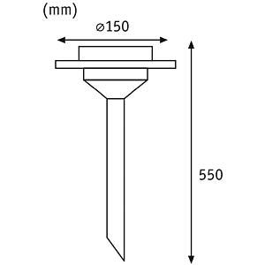 LED-Solarleuchte, Gartenleuchte, 0,2 W, silber, IP44, Ufo PAULMANN 93764