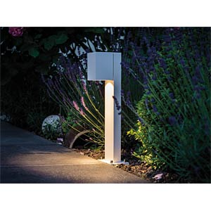 bollard light IP44 Set 360° Cube LED 7W White matt PAULMANN 93816