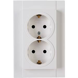 Dual outlet w. child safety, HK07 pure white KOPP 940229004