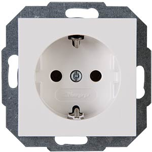Outlet w/o child safety feature, HK07 pure white KOPP 949329006