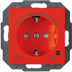 One-way outlet, over-voltage, HK07 EDV red KOPP 951429008