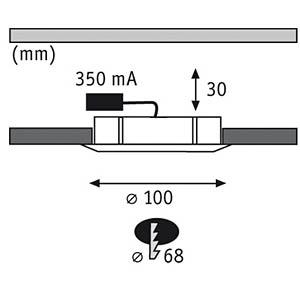 Einbauleuchte Micro Line, 13,7 W, 6500 K, rund PAULMANN 98352