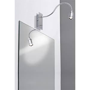 Zylindro Bed reading lamp, 3W LED 230V, chrome PAULMANN 99068