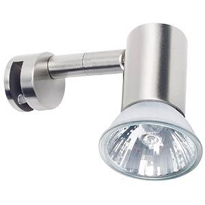 Mirror lamp, Mirror Simplo, 50 W, GU10, brushed iron PAULMANN 99082