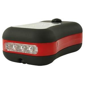 LED-Werkstattlampe, schwarz / rot, 3x AAA (Micro) HYCELL 1600-0045-1