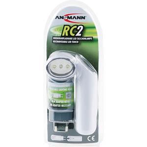 LED-Taschenlampe RC2, silber, NiMH-Akku ANSMANN 5101173