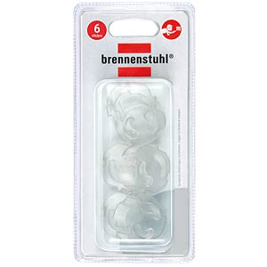 Safety plug, transparent, pack of 6 BRENNENSTUHL 1164480
