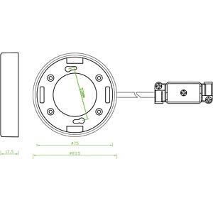 L GX53 Fassung Aufbau rund F weiß DELOCK 46019
