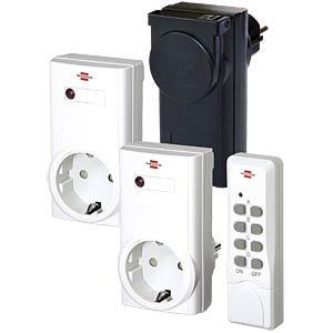 Remote-controlled switch set 2 x indoor, 1 x outdoor BRENNENSTUHL 1507400