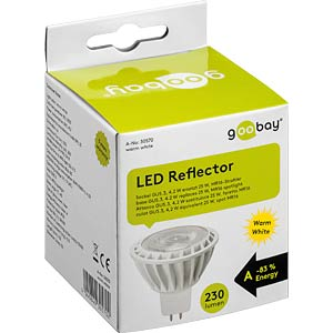 LED spotlight GU5,3, 4 W, 240 lm ww, EEK A+ GOOBAY 30570