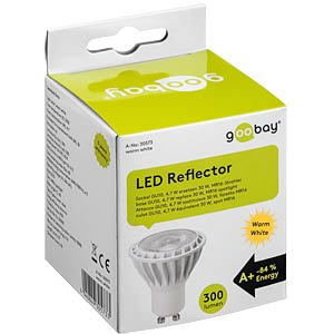 LED spotlight GU10, 5 W, 345 lm ww, EEK A+ GOOBAY 30573