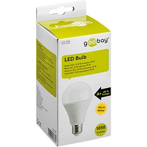 LED-Lampe E27, 12 W, 1050 lm, 2700 K, dimmbar GOOBAY 30687