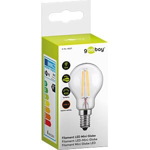 LED-Lampe, E14, 4 W, 450 lm, 2700 K, Filament GOOBAY 45621