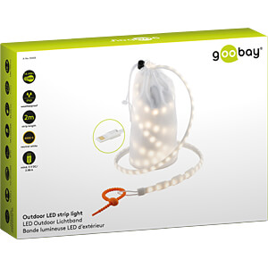 LED-Streifen, 14 W, 407 lm, kaltweiß, 2000 mm, USB GOOBAY 55503