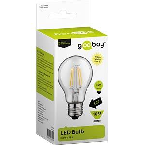LED-Lampe E27, 8 W, 1055 lm, 2700 K, Filament GOOBAY 56655