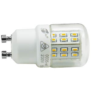 LED-Röhrenlampe GU10, 2,7 W, 290 lm, 2700 K GREENLED 0035