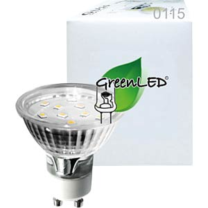 LED-Strahler GU10, 3,0 W, 190 lm, 3000 K GREENLED 0115
