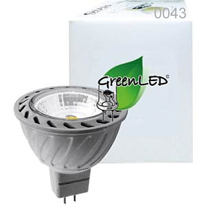LED-Lampe GU5,3, 7 W, 380 lm, 3000 K GREENLED 0043