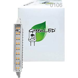 LED-Lampe, R7s, 6 W, 500 lm, 3000 K, 118 mm GREENLED 106
