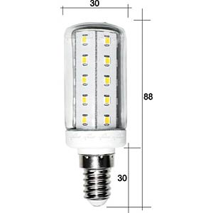 LED-Röhrenlampe E14, 4 W, 420 lm, 3000 K GREENLED 0314