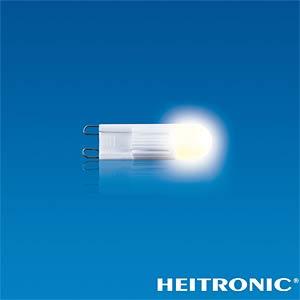 G9 LED bulb, 1 LED, warm white, 2 W, EEC A+ HEITRONIC 16043