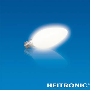 LED light bulb, candle-shaped, 2.8 W, 230 lm, EEC A+ HEITRONIC 16756