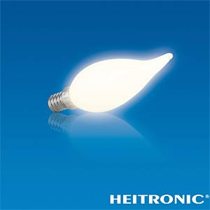 LED light bulb, candle-shaped, 2.8 W, 230 lm, EEC A+ HEITRONIC 16757