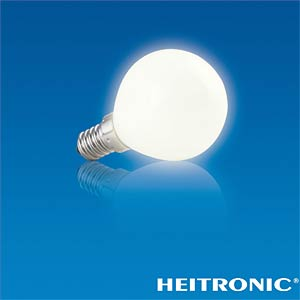LED light bulb, pear-shaped, 2.8 W, 230 lm, EEC A+ HEITRONIC 16758