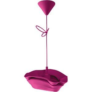 Silikon Pendelleuchte Jazz, E27 max. 40 W, pink, EEK A++ - E HEITRONIC 27712