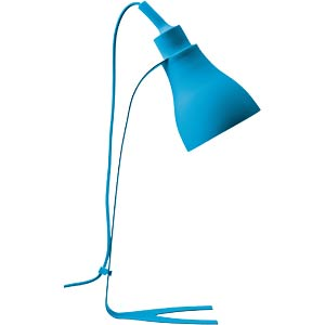 Silicone table lamp blues, E27 max. 40 W, blue HEITRONIC 27722