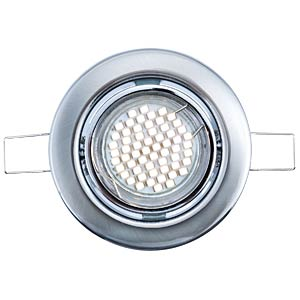 Recessed LED spotlights, three-part set, warm white, matt, EEC A HEITRONIC 30164