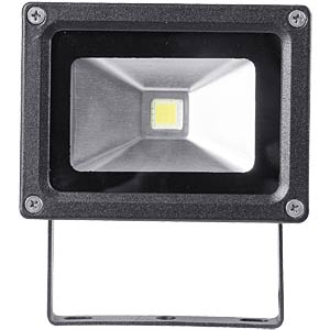 LED floodlight, 10 W, warm white, grey, EEC A PEREL LEDA3001WW-B