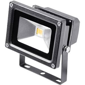 LED floodlight, 10W, warm white, grey, EEC A PEREL LEDA3001WW-B
