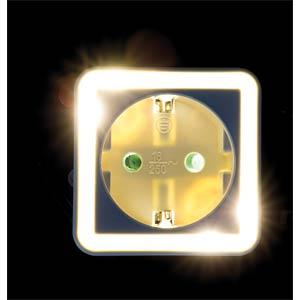 Zwischenstecker mit LED Nachtlicht, EEK A++ -A HEITRONIC 47163