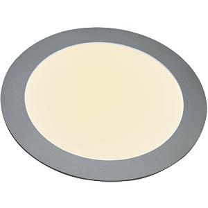 LED Panel, round, 12 W, dimmable, warm-white, EEC A HEITRONIC 27636
