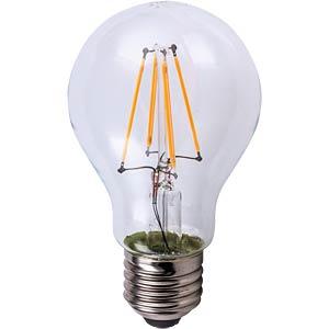 LED A60 klar, 4 W, Filament-LED, EEK A++ HEITRONIC 16165