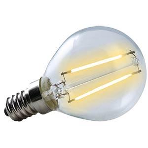 LED Tropfen, klar 2 W - Filament-LED, EEK A++ HEITRONIC 16178
