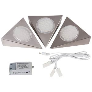 LED surface-mounted lamp, Vancouver, set of three HEITRONIC 23073